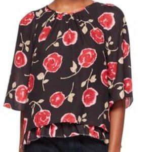 Kate Spade Hazy Rose Double Layer Blouse